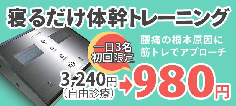 寝るだけ体幹トレーニング980円
